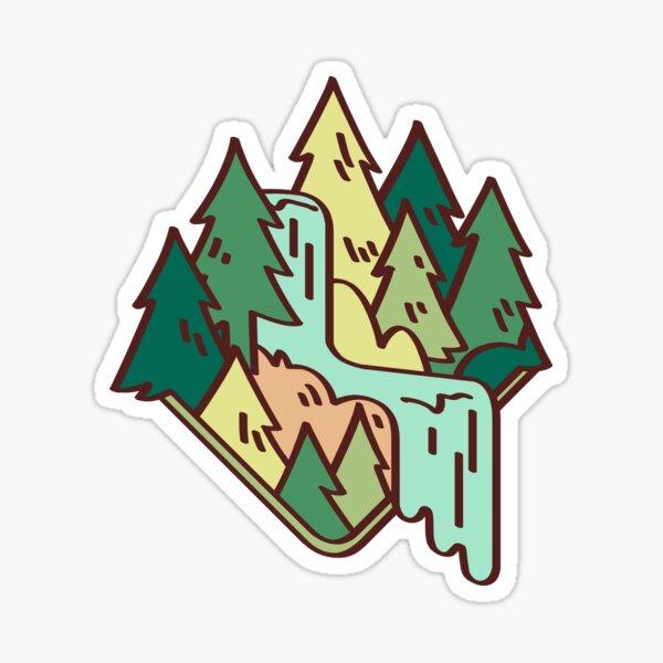 foresty waterfall Sticker