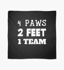 Pañuelo 4 Paws 2 Feet 1 Team Dog Handler K9 Unit Dog Trainer Gift