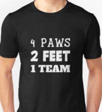 6ad969fb 4 Paws 2 Feet 1 Team Dog Handler K9 Unit Dog Trainer Gift Unisex T-