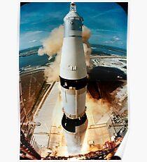 Apollo 11 - Raketenstart Poster