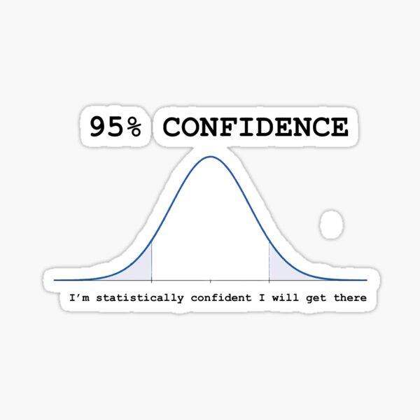 95% Confidence Pegatina
