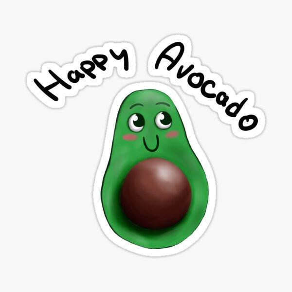 Happy Avocado Sticker