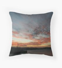 Habour Sunset Throw Pillow