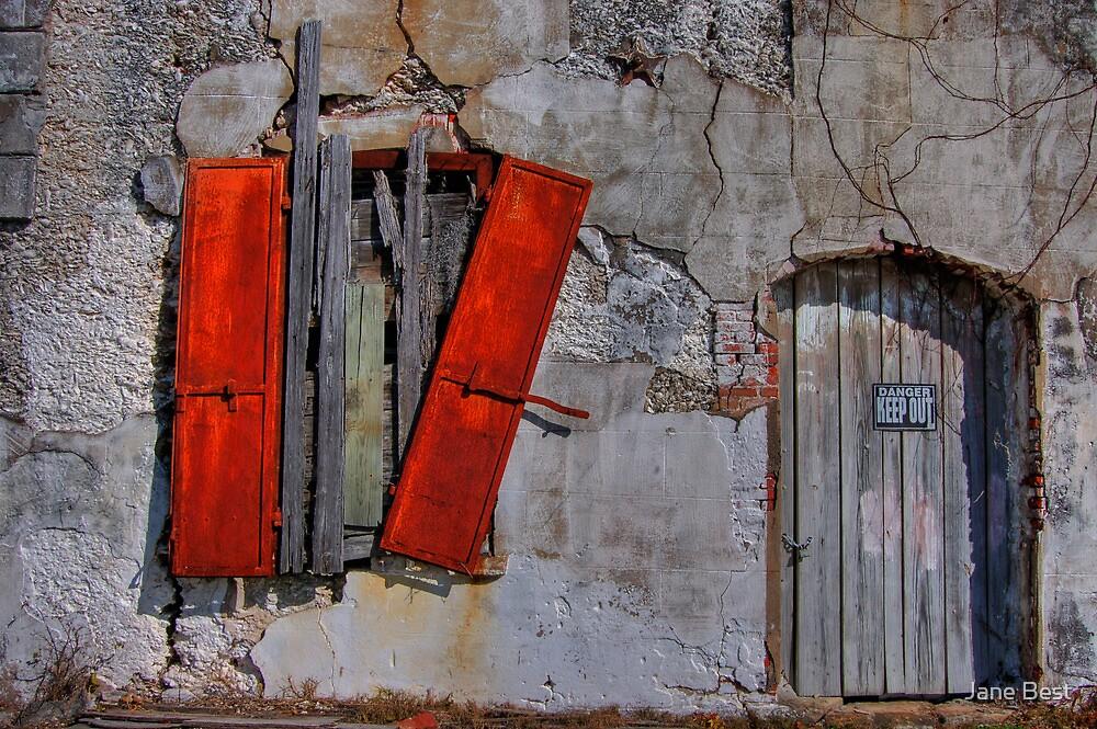 Rusty Shutters by Jane Best