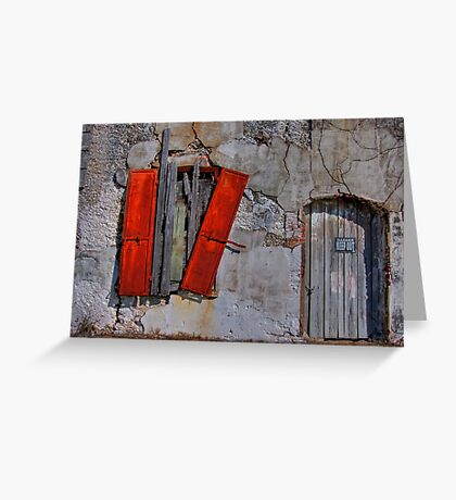 Rusty Shutters Greeting Card