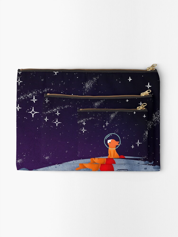 Alternate view of Somewhere Out There Zipper Pouch