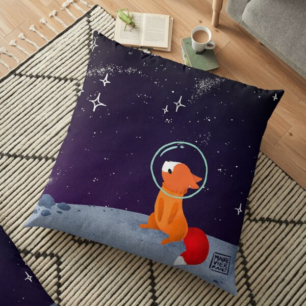 Somewhere Out There Floor Pillow