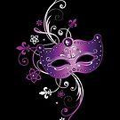 Karnevals Maske, Fleur De Lis und Blumen. von Christine Krahl