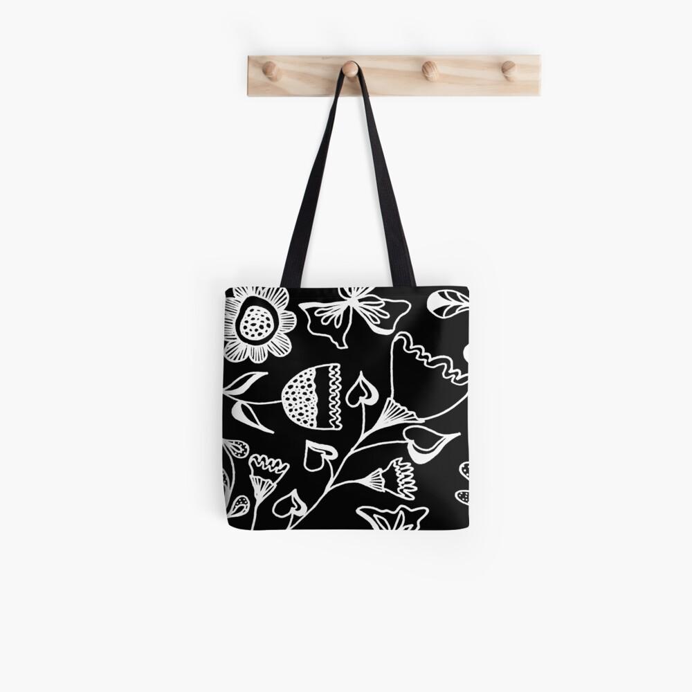 Folk Art in Schwarz Weiß Tasche