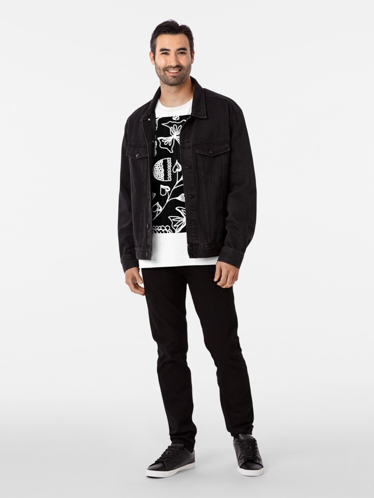 Alternative Ansicht von Folk Art in Schwarz Weiß Premium T-Shirt