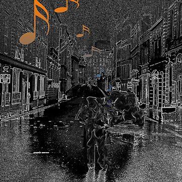 Dunkle Stadt Musik von WolflandShirts