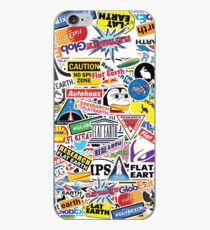 Flat Earth Stickers  iPhone Case