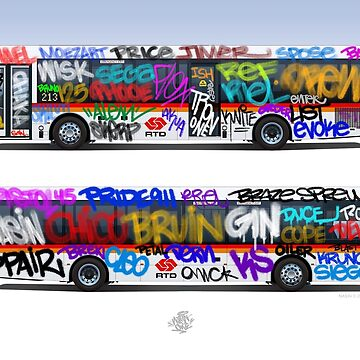 Graffiti RTD Bus by Nasinxone