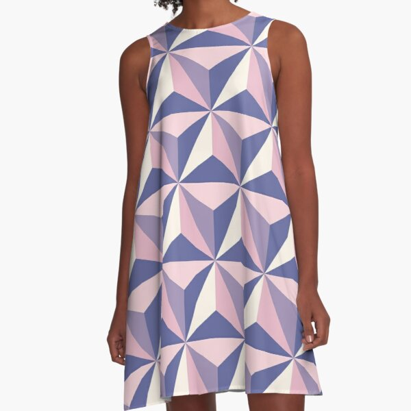 Epcot-Spaceship Earth A-Line Dress