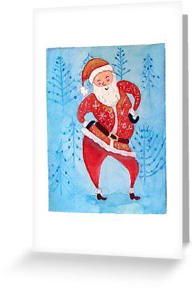 « Carte de vœux père Noël » par cindybarillet