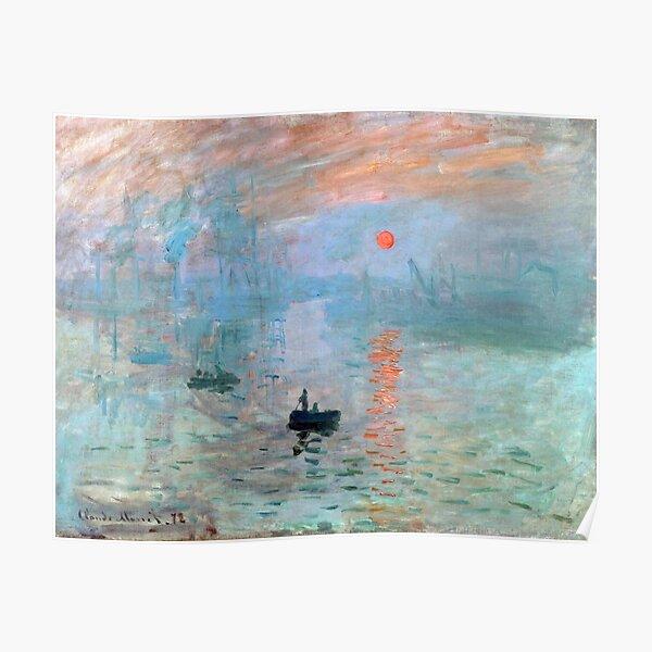 Impresión, sol naciente, Claude Monet. Póster