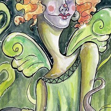 Green Fairy absinthe painting by elasteel