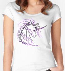 Ki-Rin (Japanese Unicorn) - Purple Women's Fitted Scoop T-Shirt