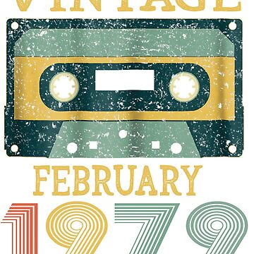40th Birthday Gift Vintage february 1979 Year Old Mixtape by pigpro