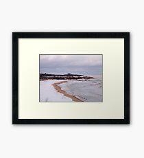 Winter At Ditch Plains Framed Print