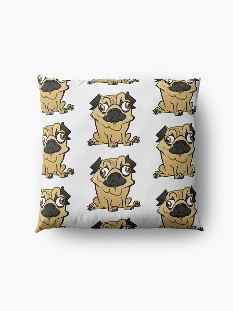 Alternate view of Pug Caricature Floor Pillow