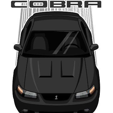 Mustang Cobra Terminator 2003 to 2004 - Black by V8social