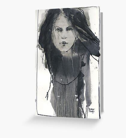 quil pen drawing Greeting Card