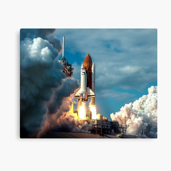 Launch of the Space Shuttle Colombia Metal Print
