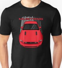 Mustang GT 2013 to 2014 - Red Unisex T-Shirt