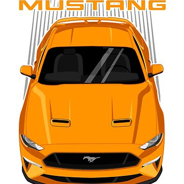 Mustang GT 2018 to 2019 - Orange by V8social
