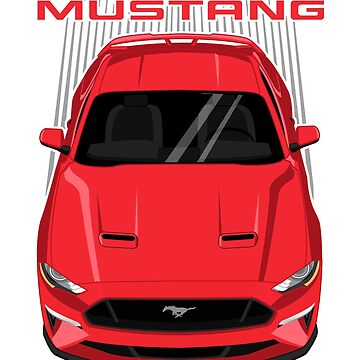Mustang GT 2018 to 2019 - Red by V8social