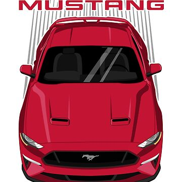 Mustang GT 2018 to 2019 - Ruby Red by V8social