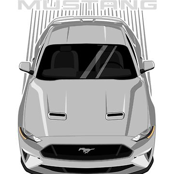 Mustang GT 2018 to 2019 - Silver by V8social
