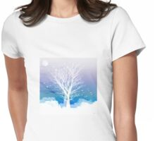 Once upon a moon lit night... Womens Fitted T-Shirt