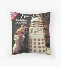 Doctor Who REMEMBRANCE OF THE DALEKS Radio Times Cover SYLVESTER McCOY The Seventh Doctor POP ART Throw Pillow