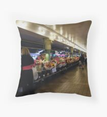 Walking through Pike Place Market...... Throw Pillow