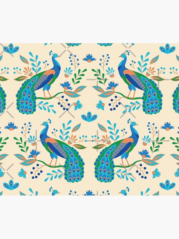 Folk Peacocks by nadyanadya