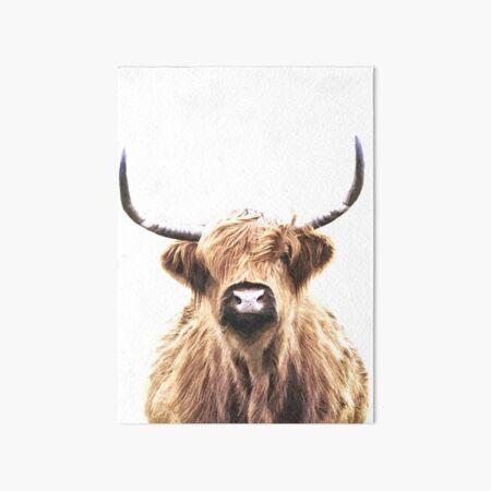 Highland Cow Art Board Print
