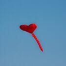 Red Love Heart Kite by fandangle-art