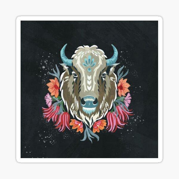 Wilder Büffel Sticker