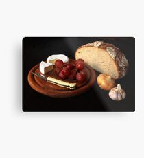 bread and cheese Metal Print