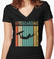 Kiteboarding West Coast Women's Fitted V-Neck T-Shirt