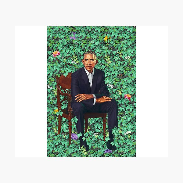 Obama Official Portrait Photographic Print