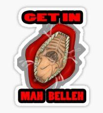 Get In Mah Belleh Red Sticker
