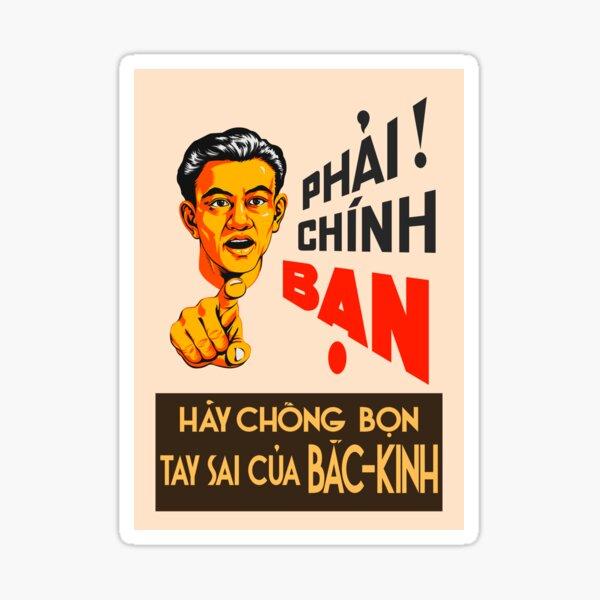 Vietnamese Propaganda. Henchmen Sticker
