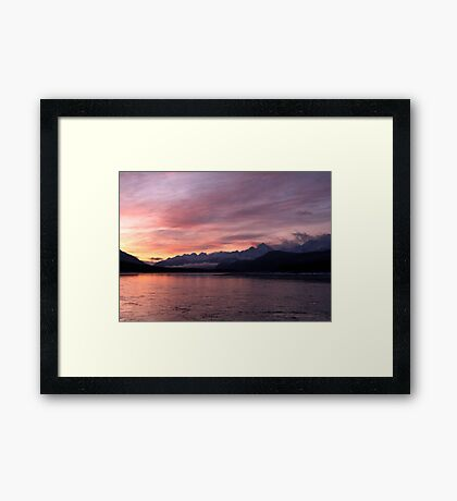 Dawn~The Valley Of The Eagles Framed Print