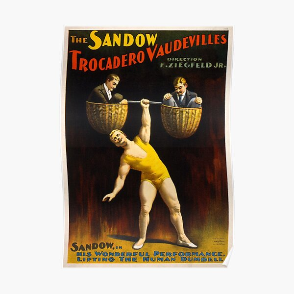 Circus Strongman Vintage Poster