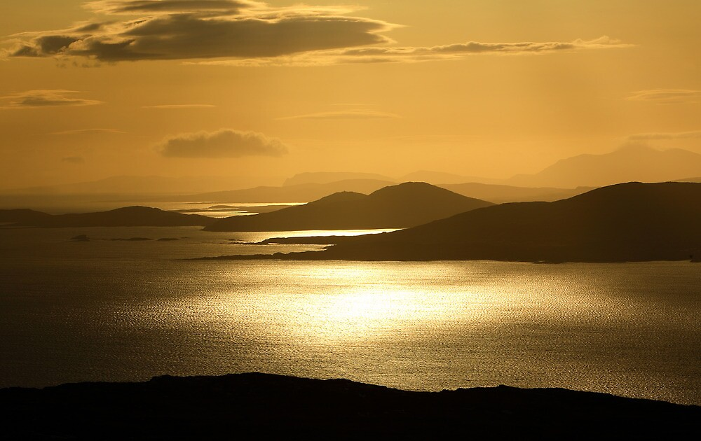Donegal  Coast  at  dawn  on  a  summers  morning. Ireland by EUNAN SWEENEY