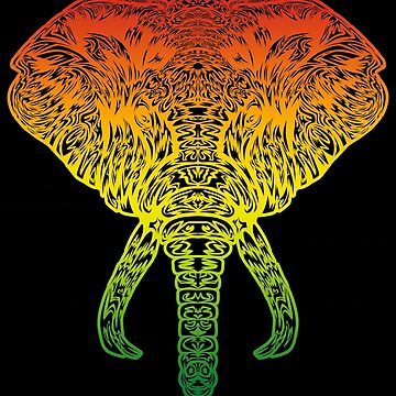 Reggae Music Elephant Gift Jamaica Roots by NiceTeee