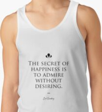 Carl Sandburg famous quote about happiness Men's Tank Top